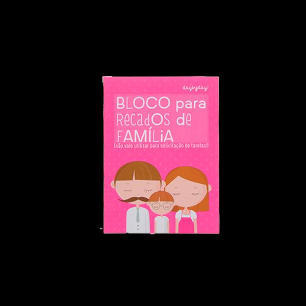 BLOCO PARA RECADOS DE FAMÍLIA
