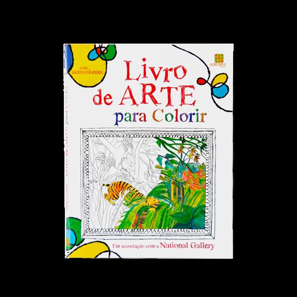 LIVRO DE ARTE PARA COLORIR