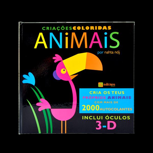 LIVRO 3D - CRIAÇÕES COLORIDAS ANIMAIS